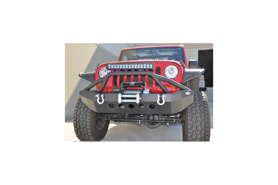 DV8 Offroad Mid Front Bumper w/Bull Bar (Part Number:FBSHTB-06)