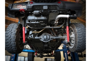 aFe Power Large Bore-HD 3in DPF-Back Exhaust System - Black - JL Diesel