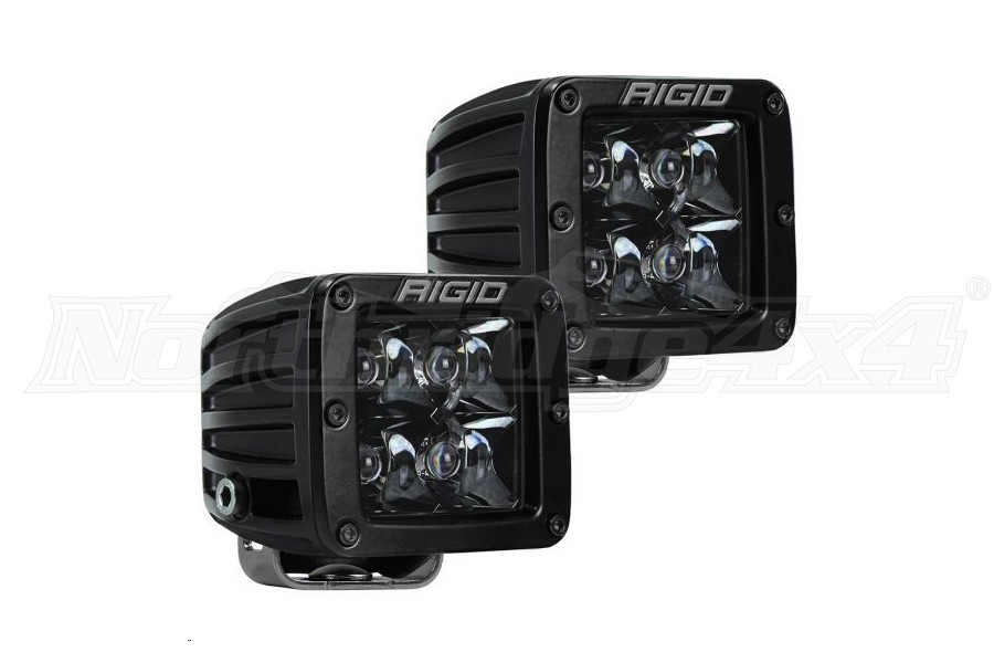 Rigid Industries D-Series PRO Midnight Spot Lights, Pair (Part Number:202213BLK)