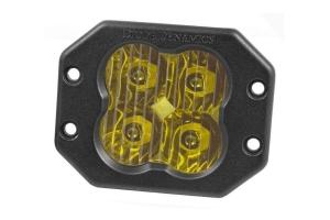 Diode Dynamics SS3 Sport Flush Mount LED Pod - Yellow Driving