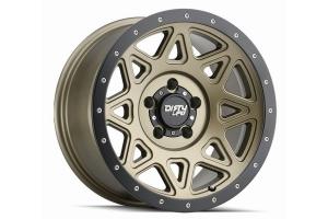 Dirty Life 9305 Theory Series Wheel, Matte Gold w/Matte Black Lip 17X9 5x5  - JT/JL/JK