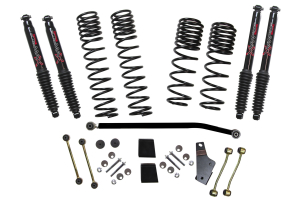 SkyJacker Suspension 3.5in/4in Dual Rate Long Travel Lift Kit with Black Max Shocks, Rubicon - JL 4Dr