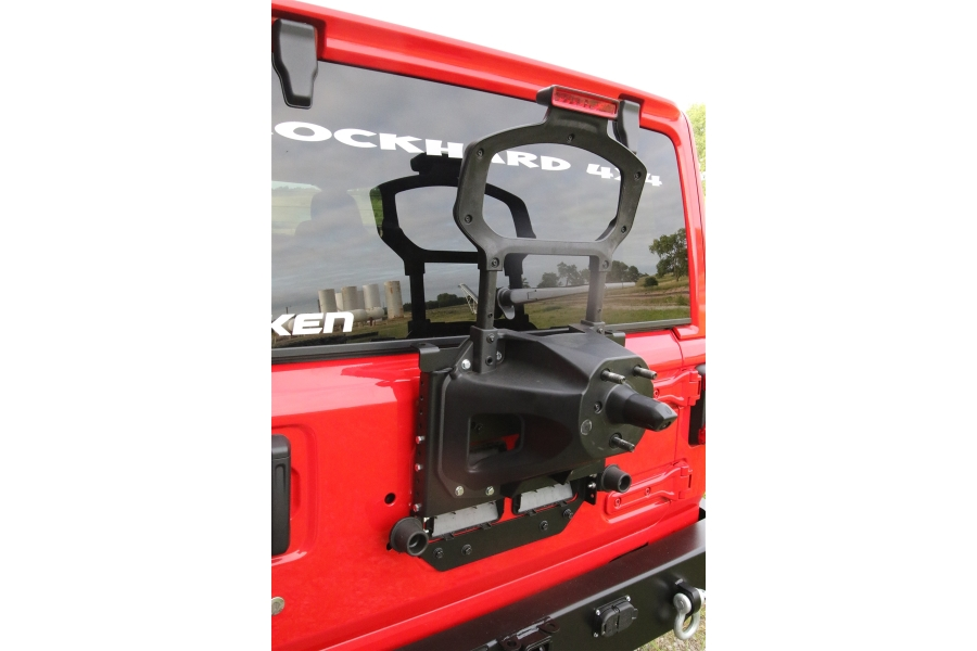 Rock Hard 4x4 Adjustable Spare Tire Carrier w/ CB Antenna (Part Number:RH-90347)