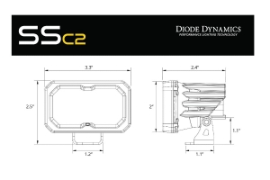 Diode Dynamics SSC2 2IN Sport LED Fog Pod, WBL