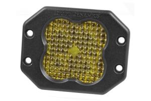 Diode Dynamics SS3 Pro Flush Mount LED Pod - Yellow Flood