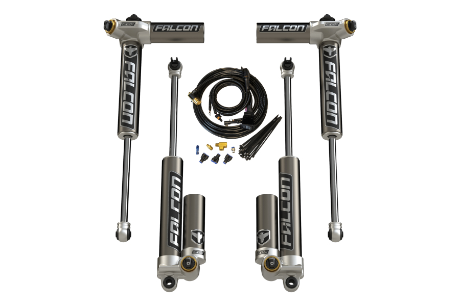 Teraflex Falcon Series 3.4 Adjustable Piggyback Shocks Front & Rear Kit 1.5-2.5in Lift (Part Number:03-01-34-400-002)