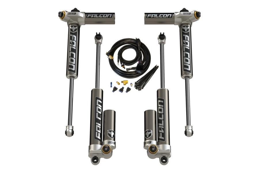 Teraflex Falcon Series 3.4 Adjustable Piggyback Shock Front & Rear Kit 0-2in Lift (Part Number:03-01-34-400-002)