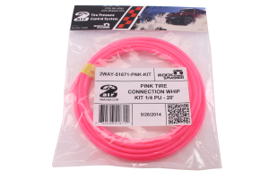 Wild Boar TIRE CONNECTION WHIP KIT 1/4IN X 20FT Pink (Part Number: )