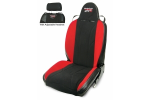 MasterCraft Baja RS w/ Adj. Headrest  Black w/Black Center & Red Side Panels  Recliner Lever Left  w/BRS Stitch Pattern