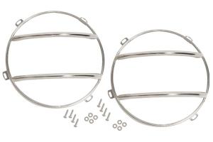 Kentrol Euro Headlight Guard Set - Polished Silver  - JK