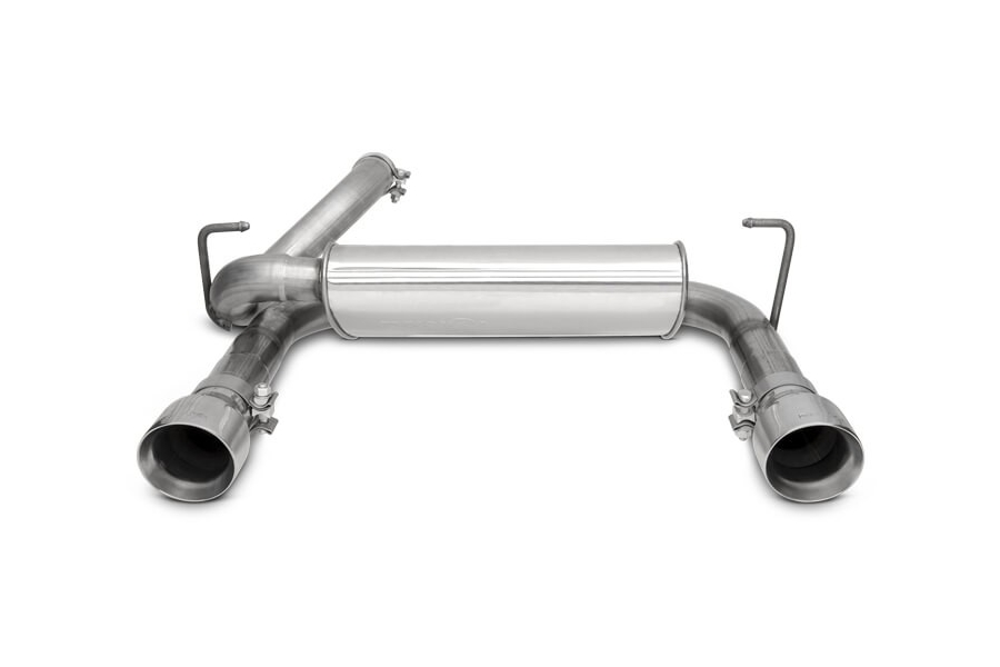 DynoMax 2.5in Super Turbo Axle Back Dual Exit Exhaust System - JL 3.6L