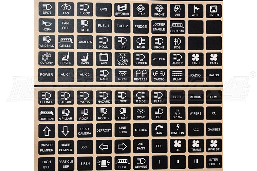 Switch Pros Horizontal Switch Panel Sticker Labels