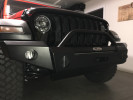 LOD Signature Series Full Width Front Bumper with Bull Bar for Warn Power Plant Winch ( Part Number: JFB1857)