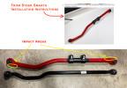 Steer Smarts Yeti XD Adjustable Rear Track Bar - Red ( Part Number: 75061001)