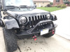 LOD Destroyer Mid-Width Front Bumper w/ Bull Bar Black Powder Coated ( Part Number: JFB0713)