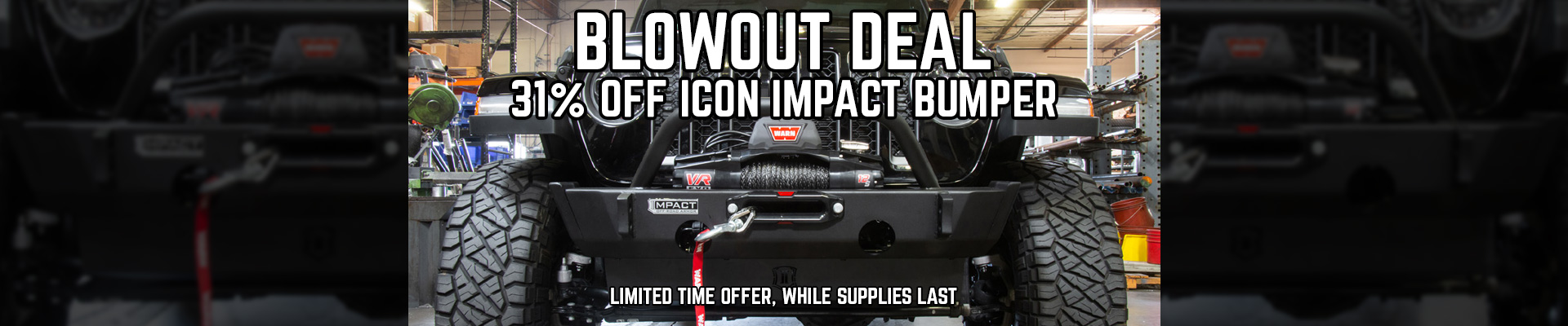 Icon Vehicle Dynamics Bumper Sale