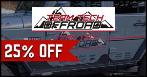 Team Tech Offroad twenty five percent off sale