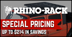 Rhino Rack special pricing sale