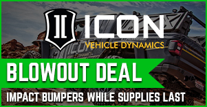 Icon impact bumpers blowout deal