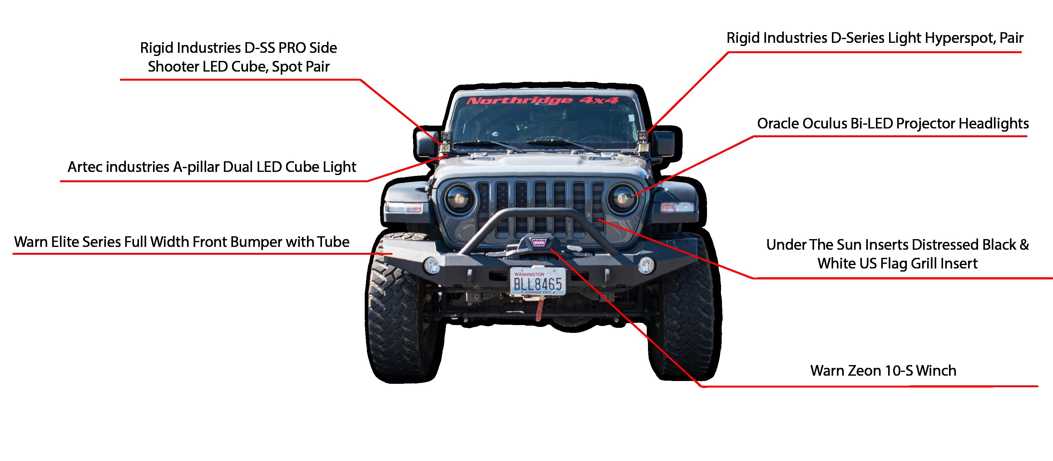 Northridge's Fleet: Malo's Jeep Front